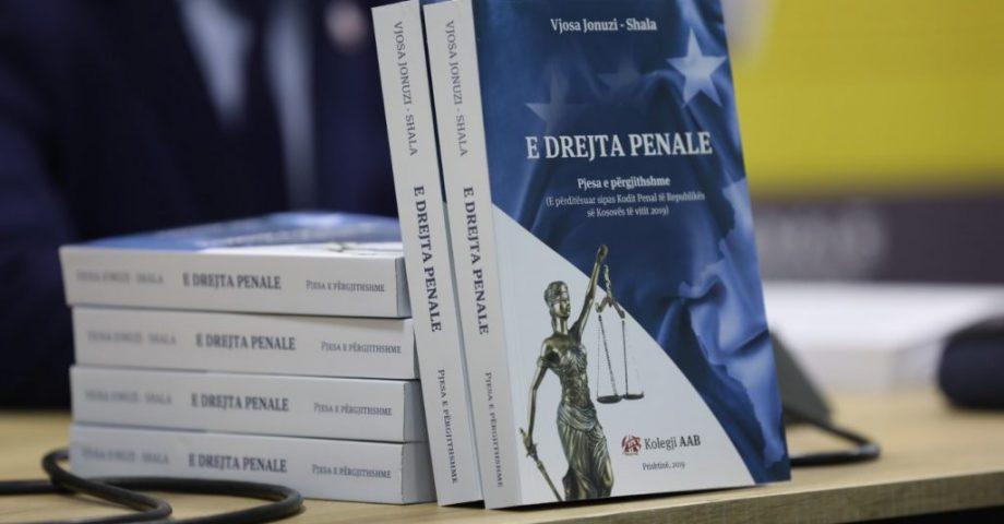 """U promovua libri """" E Drejta Penale"""", i autores Vjosa Jonuzi-Shala, botim i Shtëpisë Botuese AAB"""